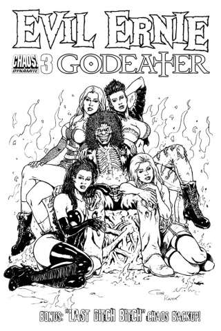 Evil Ernie: Godeater #3 (10 Copy B&W Cover)