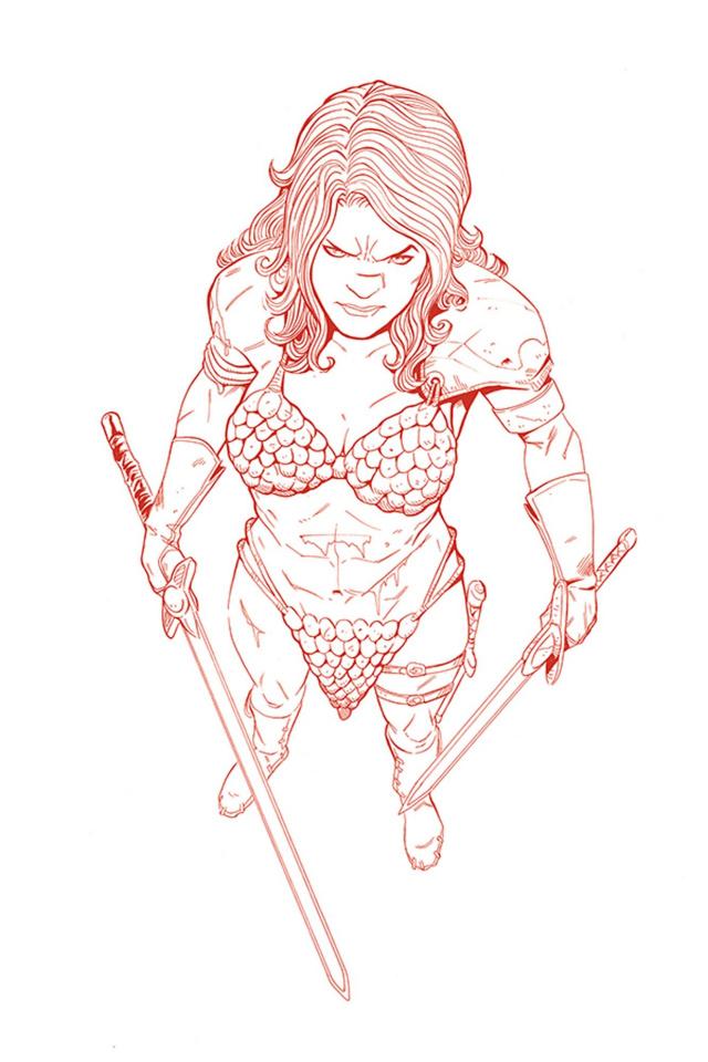 Vampirella / Red Sonja #4 (15 Copy Moss Tint Virgin Cover)