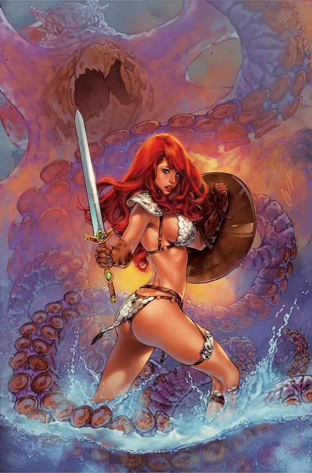 The Invincible Red Sonja #2 (25 Copy Elias Chatzoudis Virgin Cover)