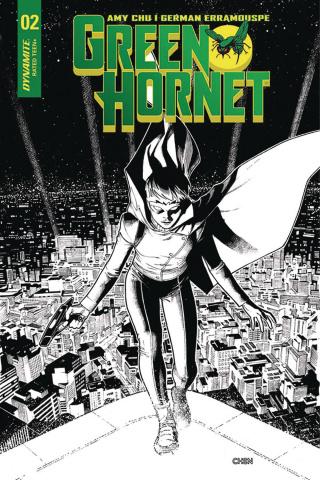 Green Hornet #2 (20 Chen B&W Cover)