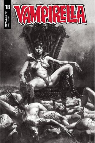 Vampirella #18 (40 Copy Mastrazzo B&W Cover)