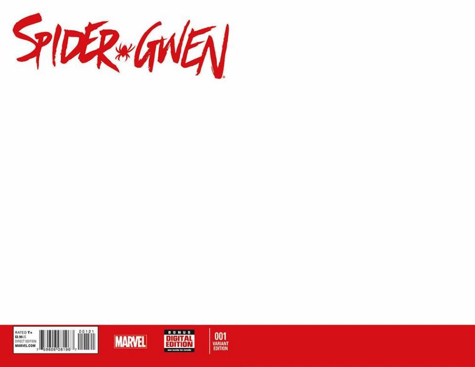 Spider-Gwen #1 (Blank Cover)
