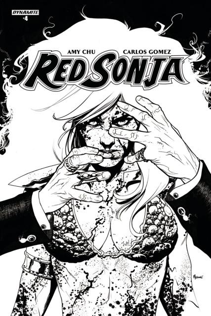 Red Sonja #4 (20 Copy McKone B&W Cover)