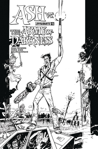 Ash vs. The Army of Darkness #5 (10 Copy Vargas B&W Cover)