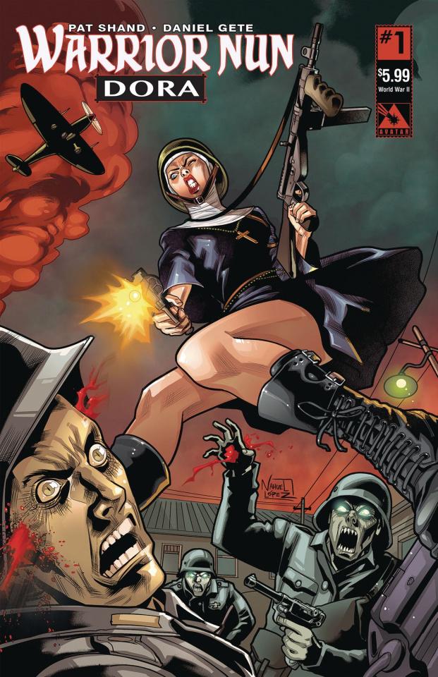 Warrior Nun: Dora #1 (World War II Cover)