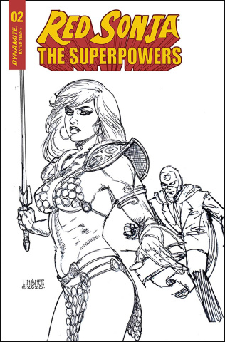 Red Sonja: The Superpowers #2 (20 Copy Linsner B&W Cover)