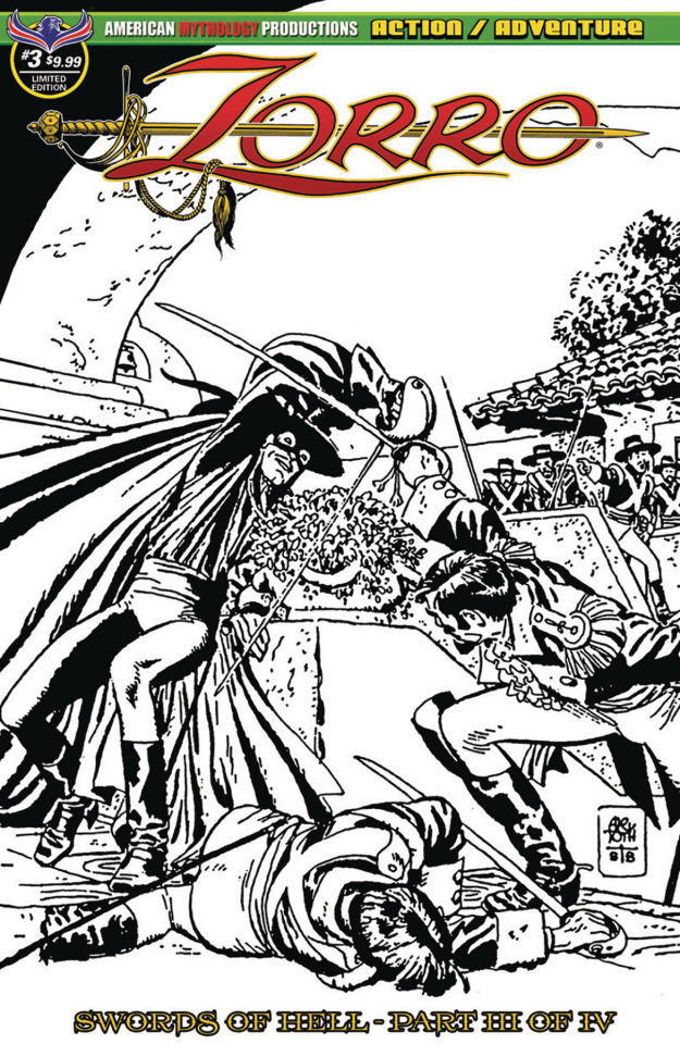 Zorro: Swords of Hell #3 (Visions of Zorro Toth Cover)