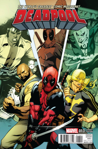 Deadpool #13 (Stevens Power Man and Iron Fist Cover)