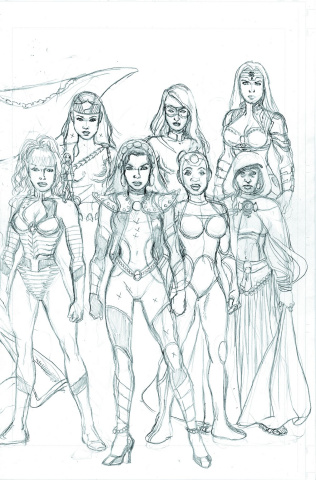 Sirens #6 (25 Copy Pencils Cover)