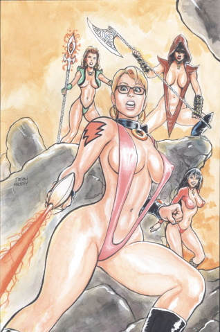 Cavewoman: Battle Ankha's Brood #1 (Massey Cover)