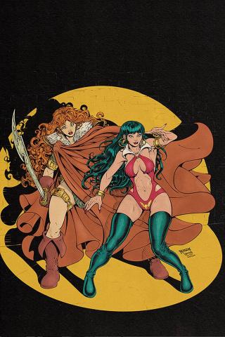 Vampirella / Red Sonja #12 (Robson Virgin Homage Cover)