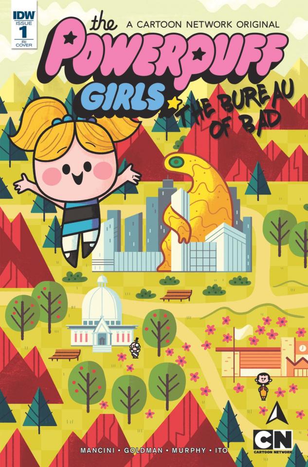 The Powerpuff Girls: The Bureau of Bad #1 (10 Copy Cover)