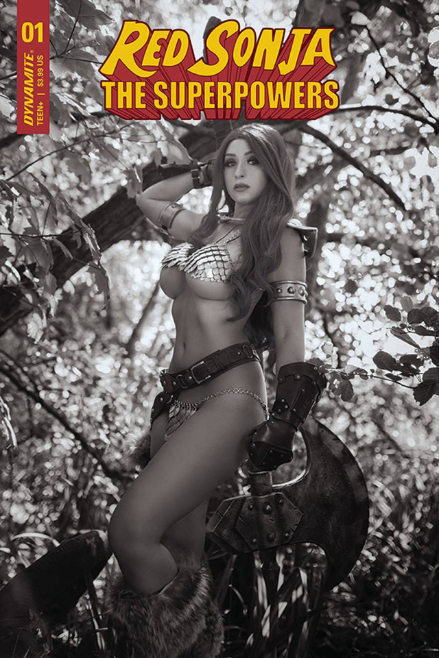 Red Sonja: The Superpowers #1 (25 Copy Cosplay B&W Cover)