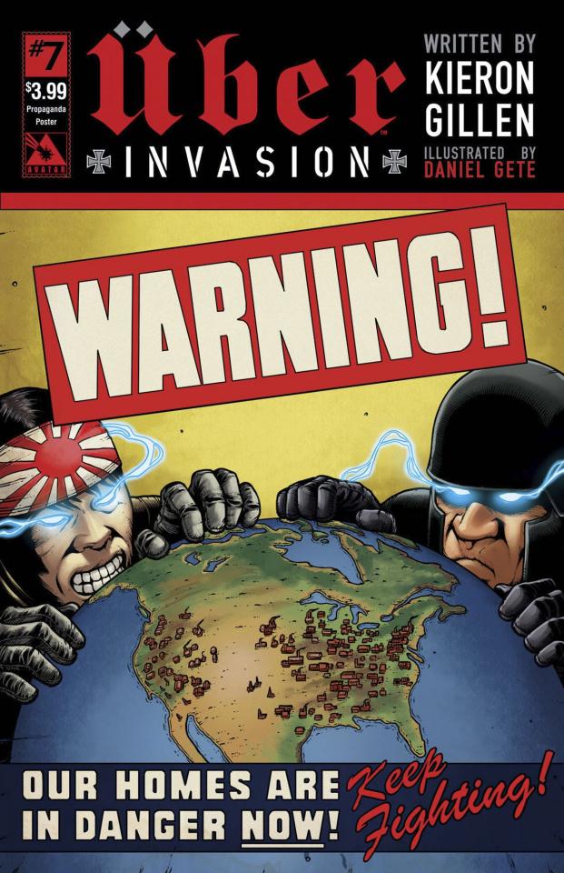 Über: Invasion #7 (Propaganda Poster Cover)