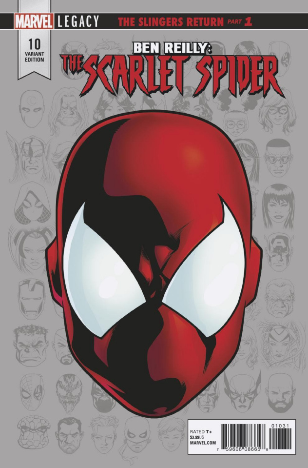 Ben Reilly: The Scarlet Spider #10 (Legacy Headshot Cover)