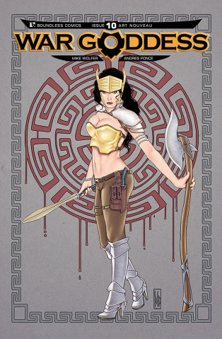 War Goddess #10 (Art Nouveau Cover)