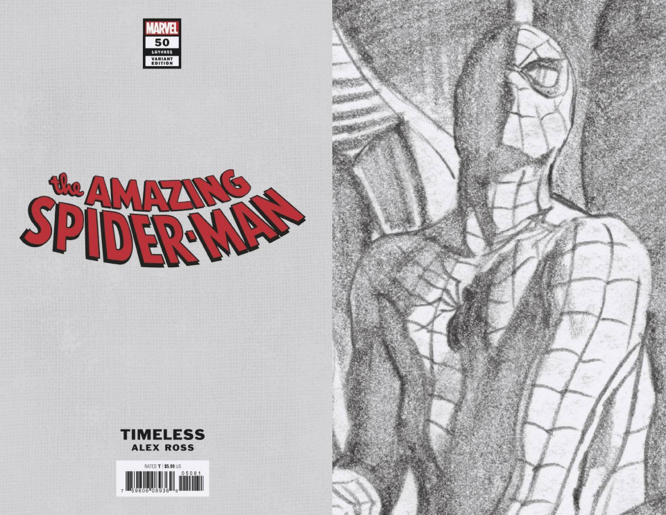 The Amazing Spider-Man #50 (Timeless Virgin Sketch Cover)