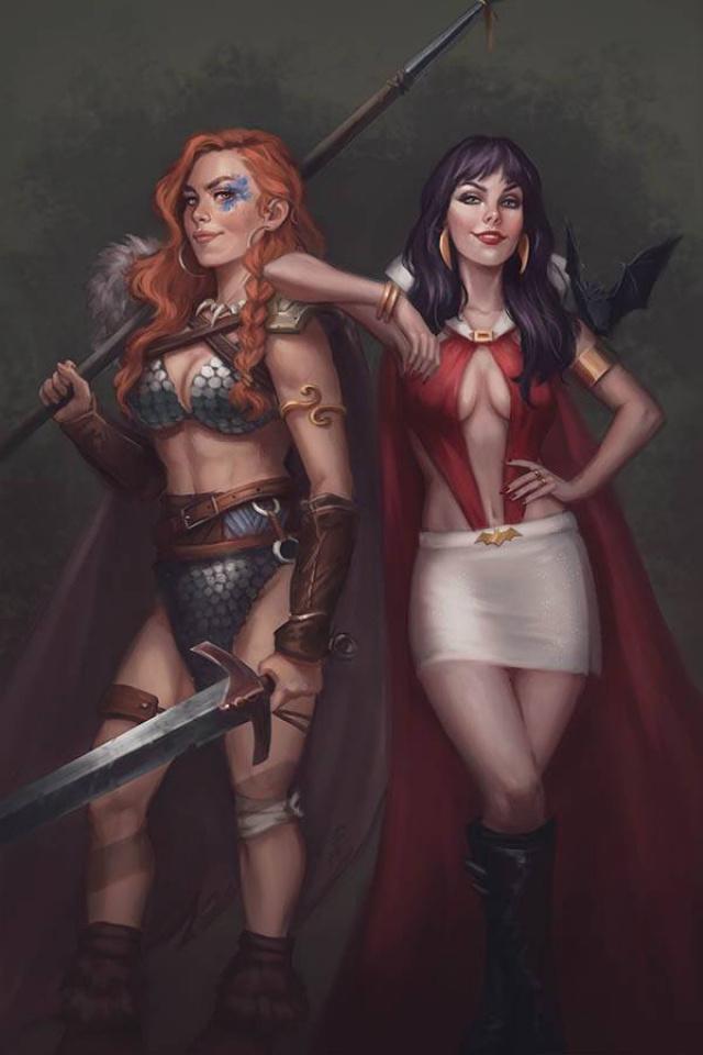 Vampirella / Red Sonja #9 (Sampaio Virgin Cover)