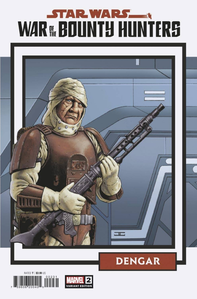 Star Wars: War of the Bounty Hunters #2 (Trading Card Cover)
