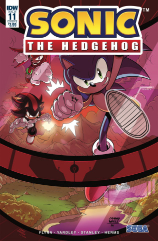 Sonic the Hedgehog #11 (Yardley Cover)