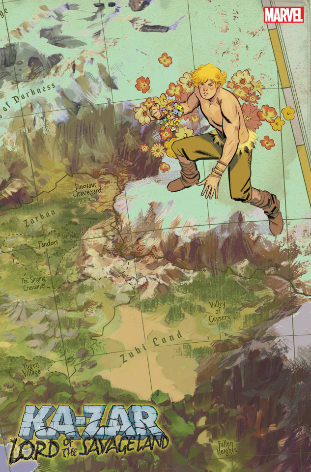Ka-Zar: Lord of the Savage Land #2 (Garcia Map Cover)