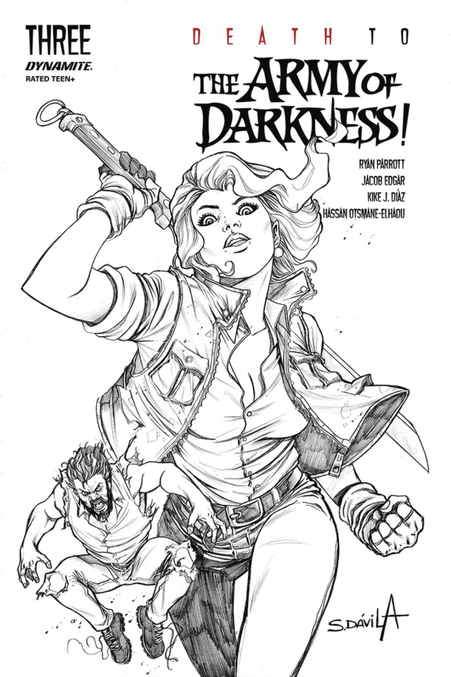 Death to the Army of Darkness #3 (25 Copy Davila B&W Cover)