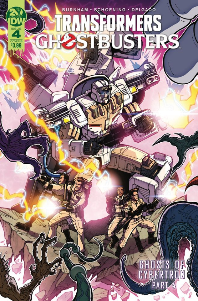 The Transformers / Ghostbusters #4 (Milne Cover)