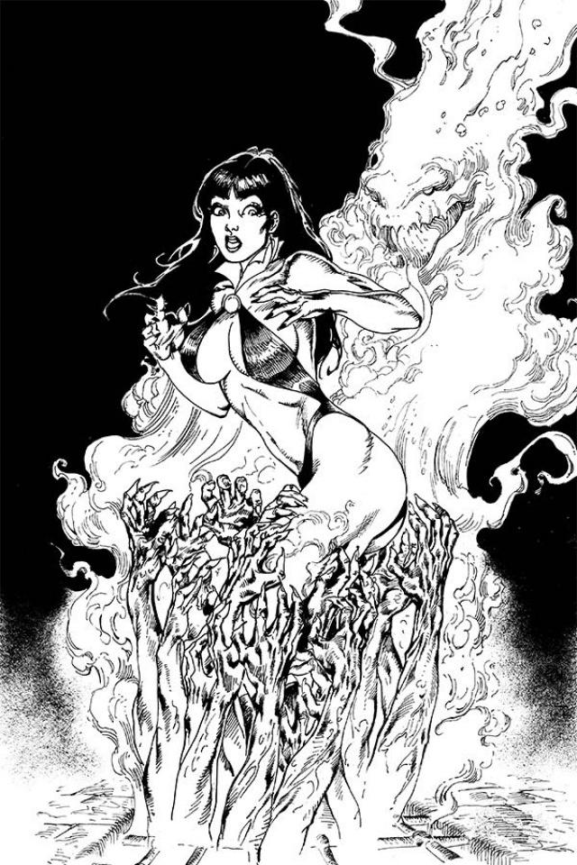 Vengeance of Vampirella #7 (15 Copy Castro B&W Virgin Cover)
