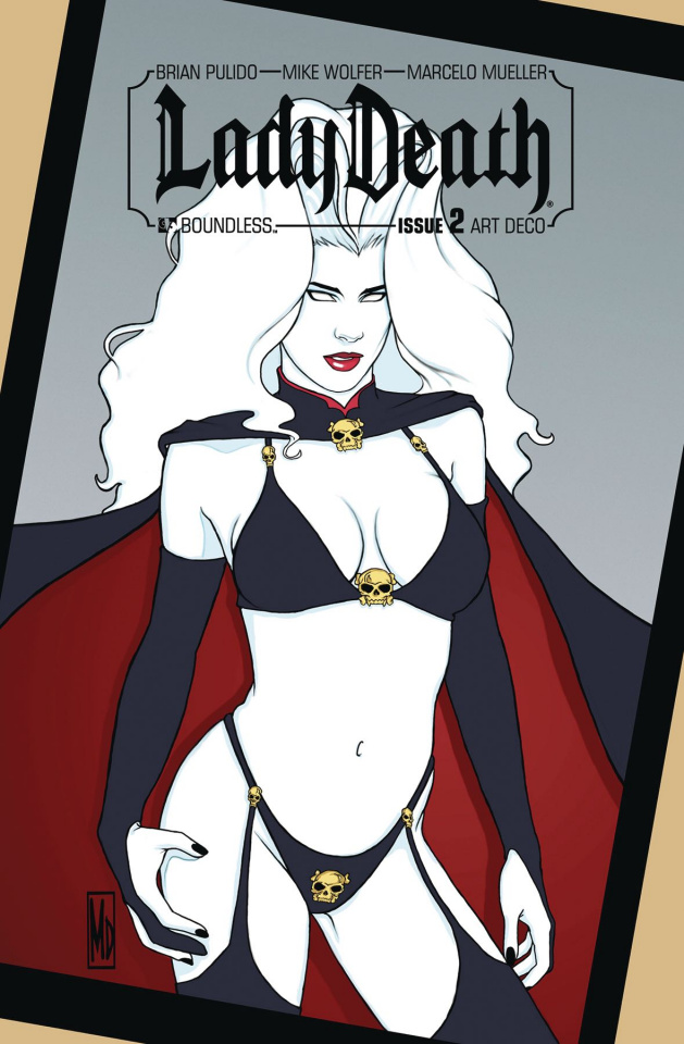 Lady Death #2 (Art Deco Variant Cover)