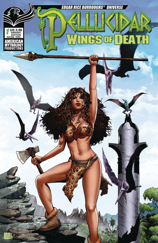 Pellucidar: Wings of Death #1 (Wolfer Warrior Cover)