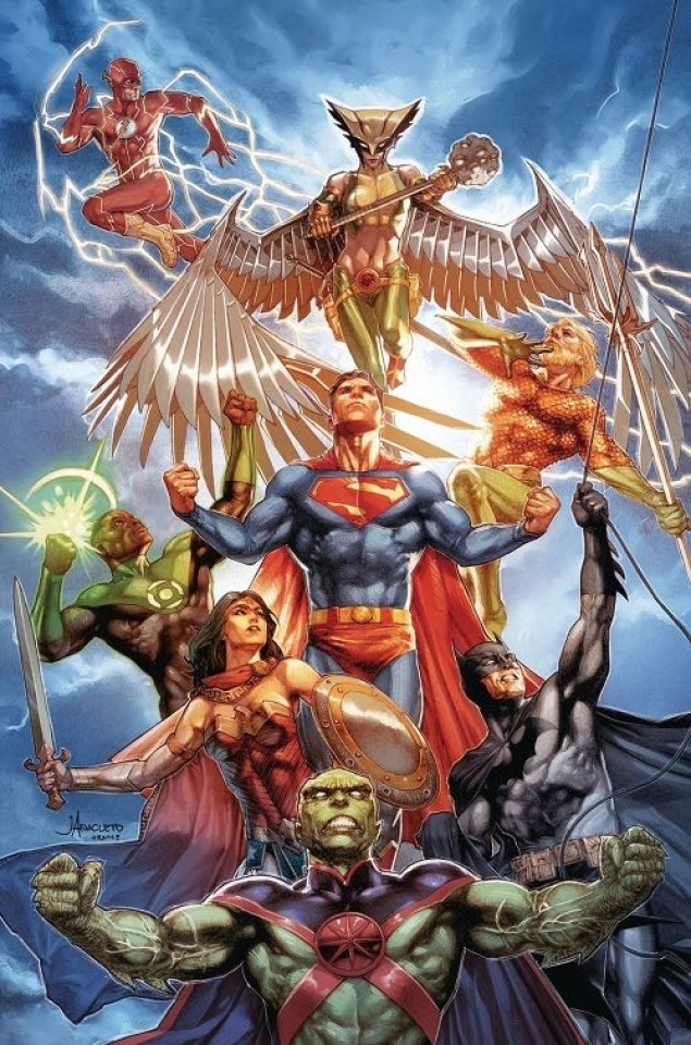Justice League #30 (Card Stock Dark Gifts Cover)