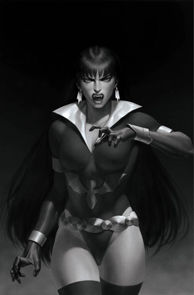 Vampirella: The Dark Powers #5 (45 Copy Yoon B&W Virgin Cover)