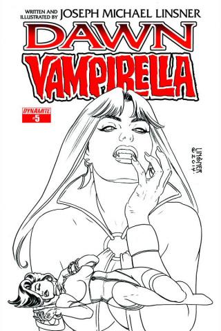 Dawn / Vampirella #5 (10 Copy Linsner B&W Cover)