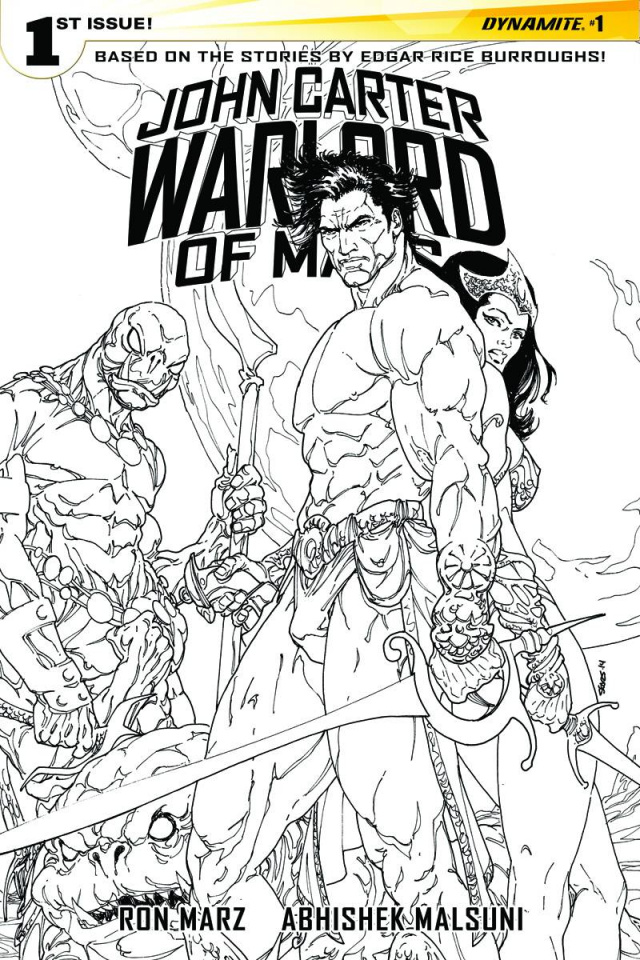John Carter: Warlord of Mars #1 (40 Copy Sears B&W Cover)