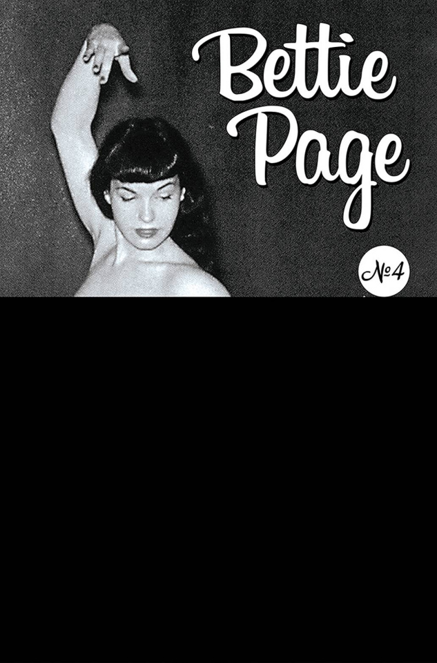 Bettie Page and The Curse of the Banshee #4 (Black Bag Photo Cover)