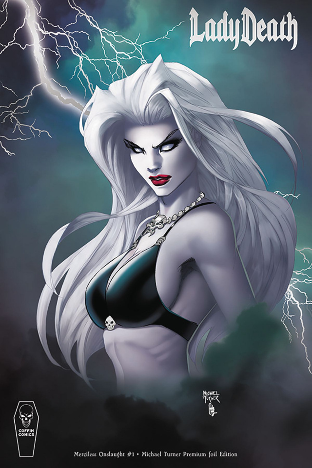 Lady Death: Merciless Onslaught #1 (Turner Premium Foil Cover)