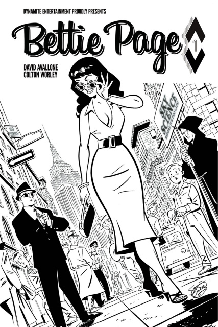 Bettie Page #1 (40 Copy Chantler B&W Cover)