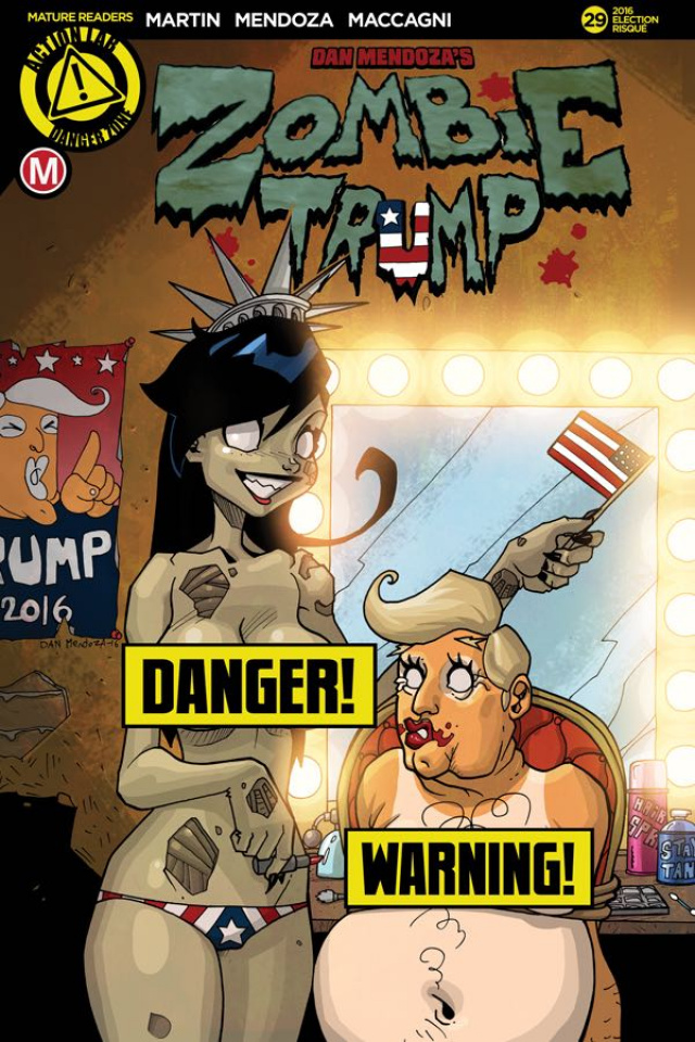 Zombie Tramp #29 (Election Risque Cover)