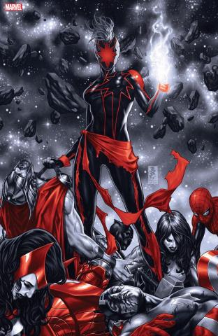 Captain Marvel #12 (Brooks Spot Color Virgin Cover)