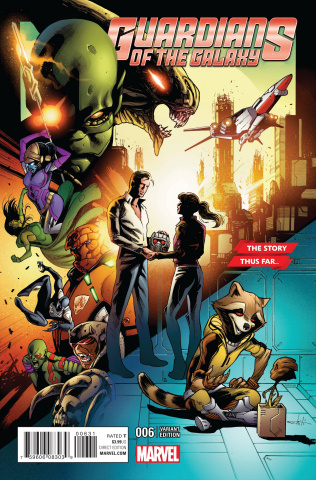 Guardians of the Galaxy #6 (Schiti Story Thus Far Cover)