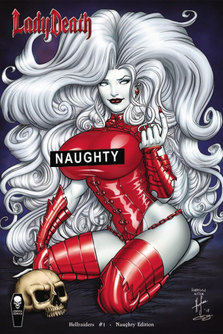 Lady Death: Hellraiders #1 (Naughty Cover)