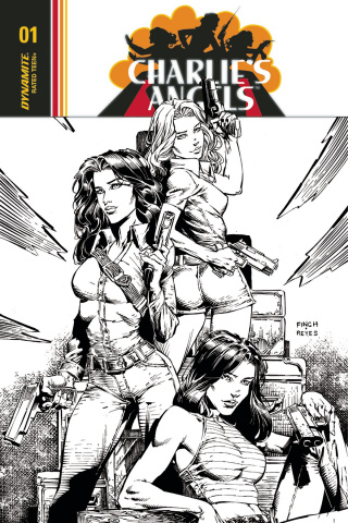 Charlie's Angels #1 (30 Copy Finch B&W Cover)