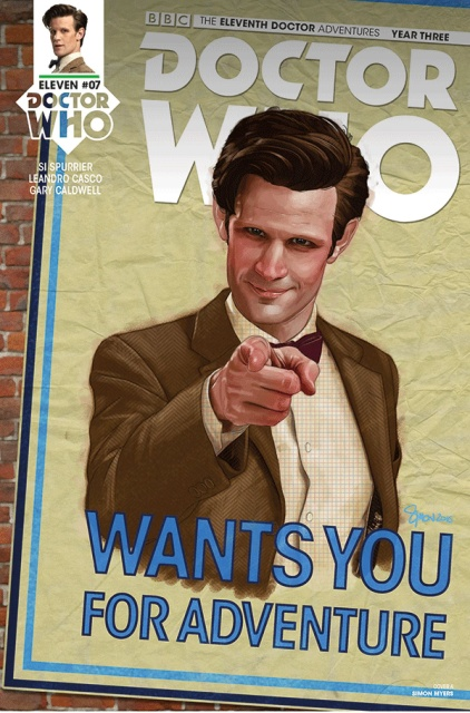 Doctor Who: New Adventures with the Eleventh Doctor, Year Three #7 (Myers Cover)