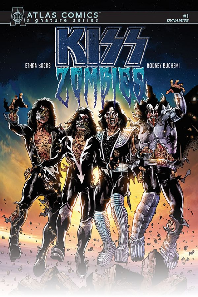 KISS: Zombies #1 (Sacks Signed Atlas Edition)