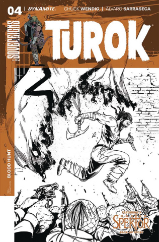 Turok #4 (10 Copy Sarraseca B&W Cover)