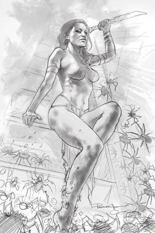 Dejah Thoris #4 (21 Copy Parrillo B&W Virgin Cover)