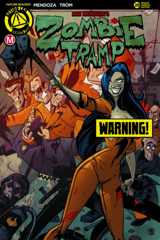 Zombie Tramp #28 (Prison Riot Risque Cover)