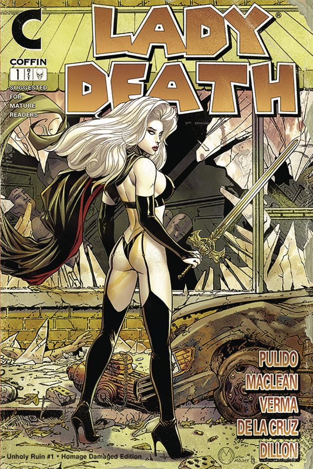 Lady Death: Unholy Ruin #1 (Damaged Homage Edition)