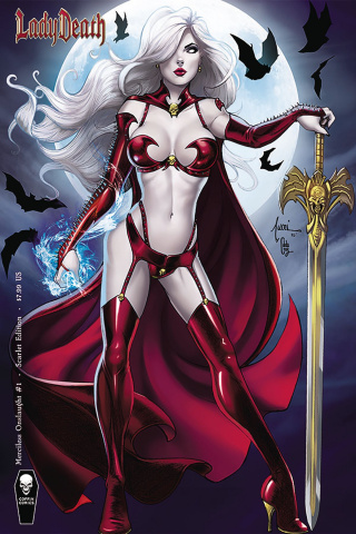Lady Death: Merciless Onslaught #1 (Tucci Scarlet Cover)