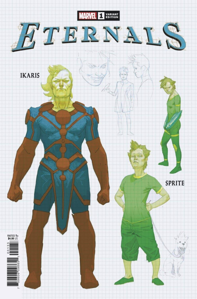 Eternals #1 (Ribic Design Cover)